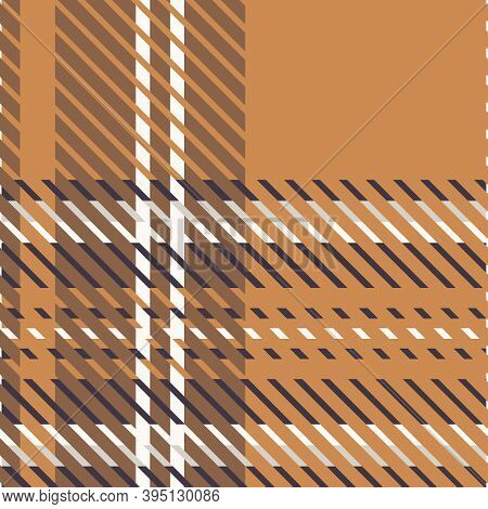 Cute Gender Neutral Tartan Vector Seamless Pattern. Checkered Scottish Flannel Print For Celtic Home