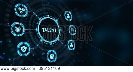 Open Your Talent And Potential. Talented Human Resources - Company Success.3d Illustration