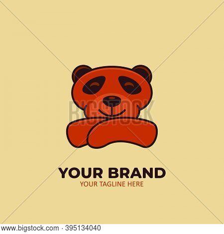 Confident Bear Logo Icon Animal Mascot Illustration