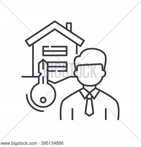 Tenant Icon, Linear Isolated Illustration, Thin Line Vector, Web Design Sign, Outline Concept Symbol