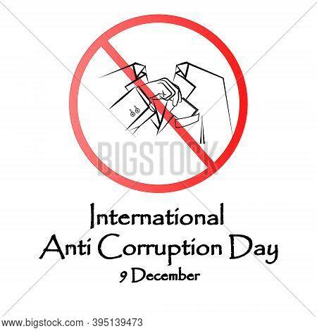 Design Banner International Anti-corruption Day, 9 December, Poster Anti Corruption Illustration For