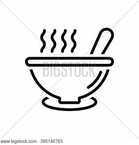 Black Line Icon For Soup Porridge Tasty Mixture Combination Pour Bowl Product Blend Warm Snug Torrid