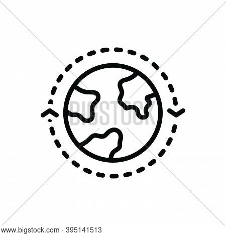 Black Line Icon For Around On-every-side-of Everywhere Throughout Global Geology