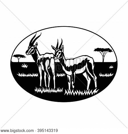 Antelope, Africa, Savanna - Wildlife, Wildlife Stencils - Forest Silhouettes For Cricut, Wildlife Cl