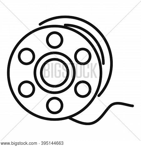 Catch Fishing Reel Icon. Outline Catch Fishing Reel Vector Icon For Web Design Isolated On White Bac