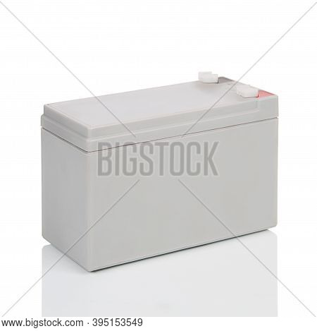 Industrial Sealed Lead-acid Battery, Isolated On White Background