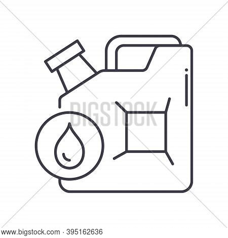 Jerrycan Icon, Linear Isolated Illustration, Thin Line Vector, Web Design Sign, Outline Concept Symb