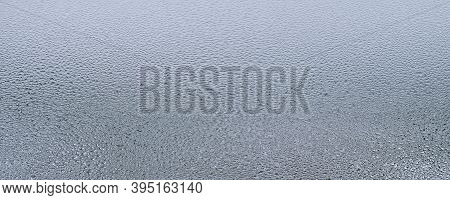 Abstract Background With Detail Of Moisture Condensation Problems, Hot Water Vapor Condensed On The
