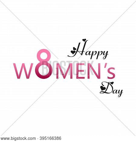 8 March Logo Vector Design With International Womens Day Icon.womens Day Symbol.minimalistic Design