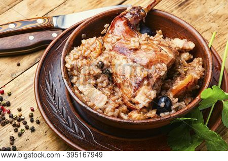 Delicious Risotto With Rabbit.