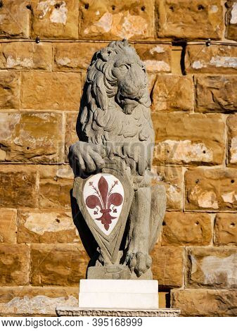 Lion Marzocco Y Is A Symbol Of The Florentine Army