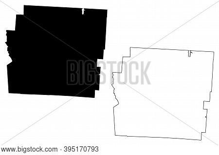 Franklin County, Ohio State (u.s. County, United States Of America, Usa, U.s., Us) Map Vector Illust