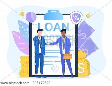 Bank Credit. Finance Management. Loan Agreement Signing. Mortgage Money Credit. Loan Disbursement, Q