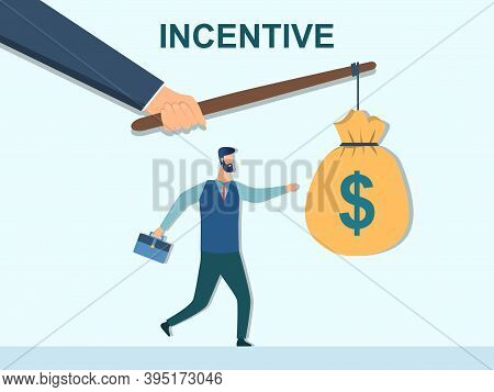 Incentive Concept. Business Metaphor. Personnel Management Leadership. Motivate People. Hand Holding