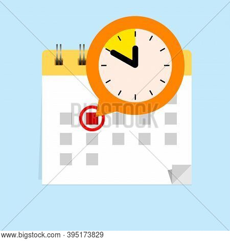 Calendar Hangs On The Wall With A Dedicated Deadline Date
