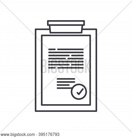Complaint Report Icon, Linear Isolated Illustration, Thin Line Vector, Web Design Sign, Outline Conc