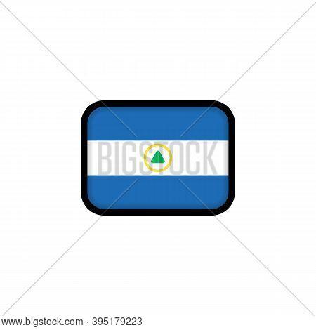 Flag Of Nicaragua. National Nicaragua Flag. Nicaragua Symbol. Vector Illustration. Eps10