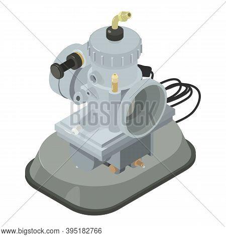 Car Carburetor Icon. Isometric Illustration Of Car Carburetor Vector Icon For Web