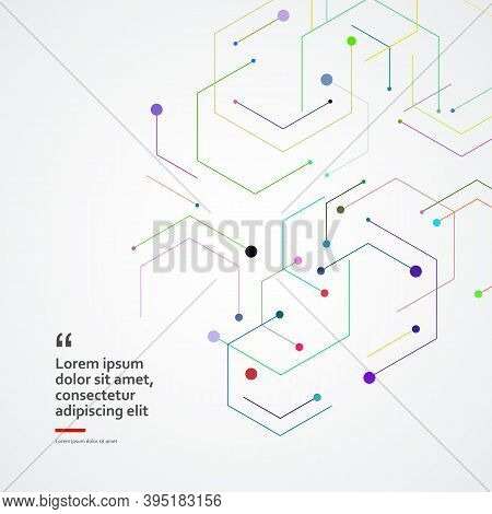 Geometric Shape With Hexagons. Business Abstract Vector Template. Digital Geometric Wallpaper Design