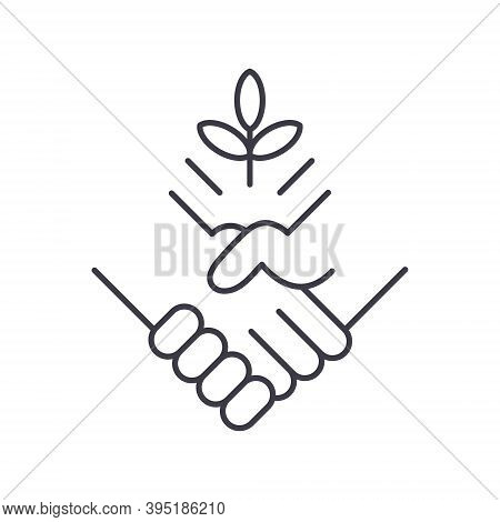 Collab Oration Icon, Linear Isolated Illustration, Thin Line Vector, Web Design Sign, Outline Concep