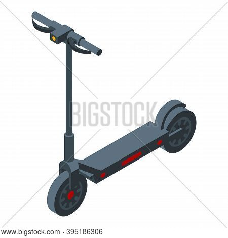 Battery Electric Scooter Icon. Isometric Of Battery Electric Scooter Vector Icon For Web Design Isol