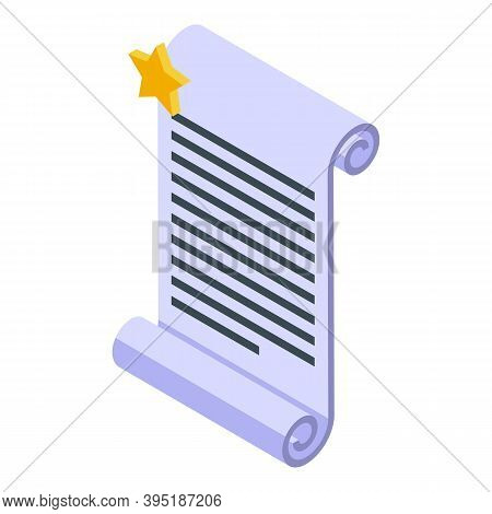 Ebook Paper Icon. Isometric Of Ebook Paper Vector Icon For Web Design Isolated On White Background