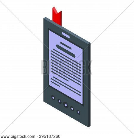 Ink Ebook Icon. Isometric Of Ink Ebook Vector Icon For Web Design Isolated On White Background