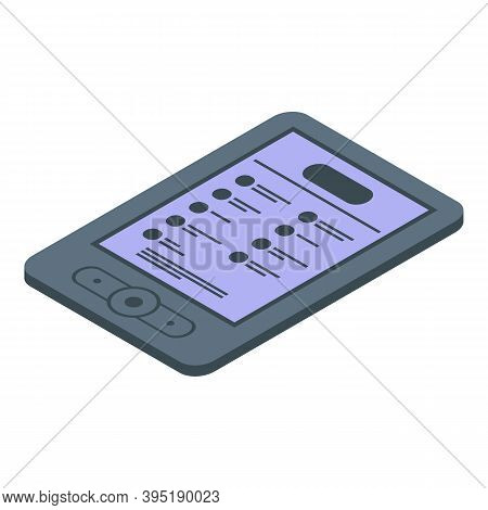 Media Ebook Icon. Isometric Of Media Ebook Vector Icon For Web Design Isolated On White Background