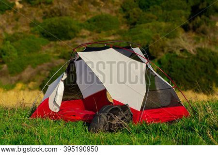 Tent For Lightweight Trekking For 2 People. Camping And Backpacking Tent With 2 Doors. Easy Setup Te