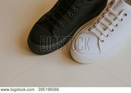 Black and white sneakers mockup