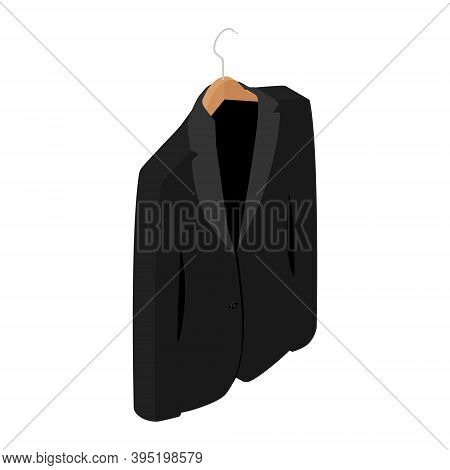 Black Man Suit Isolated On White Background. Business Suit, Business, Mens Suit, Man In Suit. Isomet