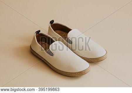 Men's white espadrilles slip-on shoes