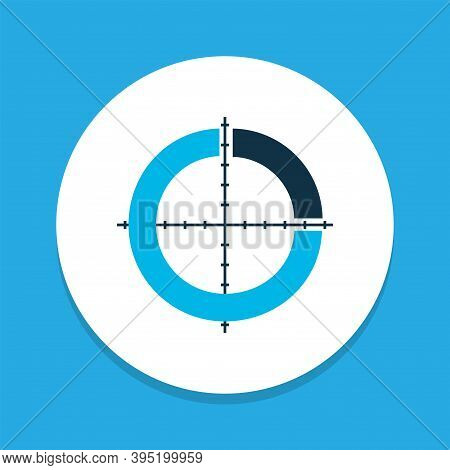 Infographic Icon Colored Symbol. Premium Quality Isolated Segmented Pie Chart Element In Trendy Styl
