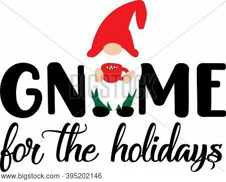 Gnome For The Holidays. Christmas Gnome In Red Hat