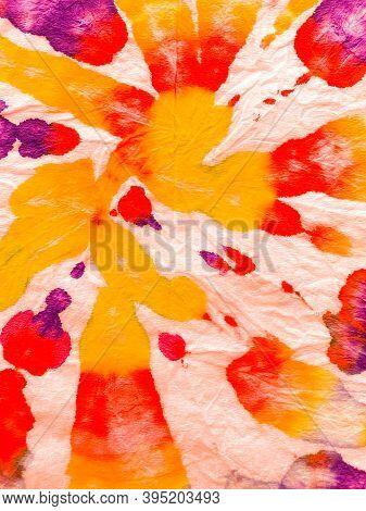 Psychedelic Swirl Textile. Hippie Batic. Vibrant Haight San Francisco Swatch.  Freedom Tiedye Swirl.