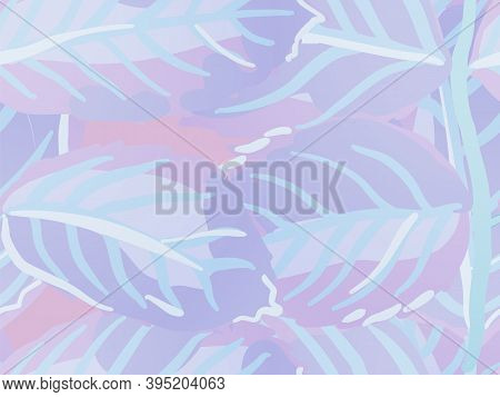 Rose Leaves Seamless Pattern. Summer Textile Design. Painted English Rose Leaf Patterns Collection.