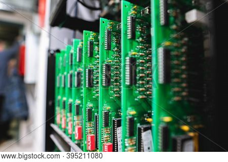 Exposed Motherboard Chipset For Fire Alarm Panel Angled View