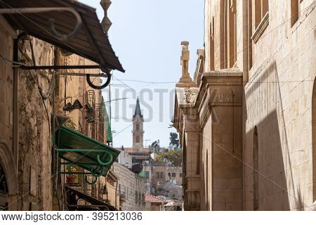 The Church Of The Condemnation On The Via Dolorosa Street In The Old City Of Jerusalem In Israel