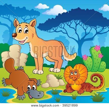 Australian animals theme 2 - vector illustration.