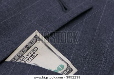 Suit With Money In Pocket
