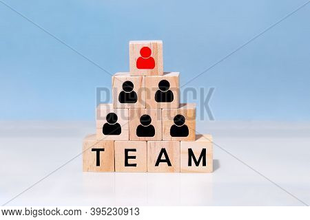 Human Resource Management And Recruitment Business Concept.  Corporate Hierarchy Concept And Multi L