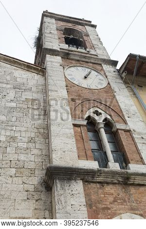 San Quirico Is A Small Village In Tuscany, San Francesco Steeple