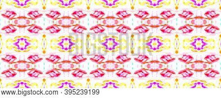 Seamless Watercolor Geometry. Geometric Tie Dye Background. Multi Colorful Repeat. Abstract Ink Aqua