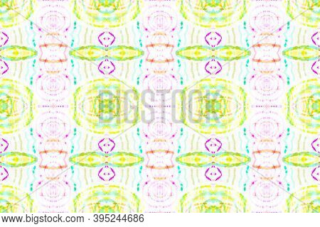 Seamless Watercolor Tile. Multi Colorful Repeat. Textured Abstract Aquarel Effect. Repeated Bohemian