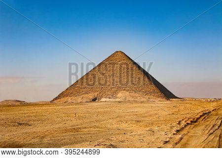 Pink Pyramid - The Northern Pyramid Of Pharaoh Snofru In Dakhshur, Xxvi Century Bc.