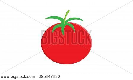 Red Tomato Clip Art Isolated On White Background, Tomatos Cartoon Infographics, Illustration Cartoon