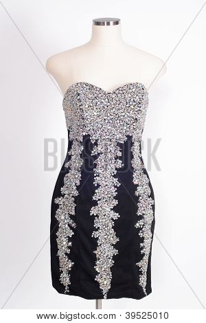 Evening Gown On White..