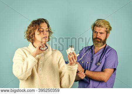 Medical Insurance Case. Daily Rate Medicines. Prescribed Treatment. Sick Patient. Medical Help. Viru