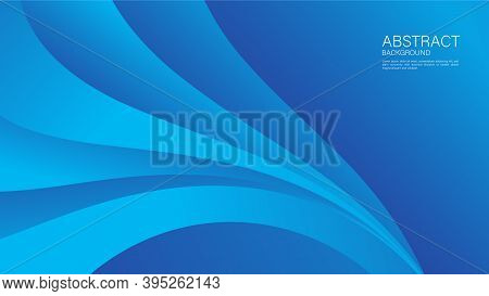 Blue Gradient Wave Abstract Background