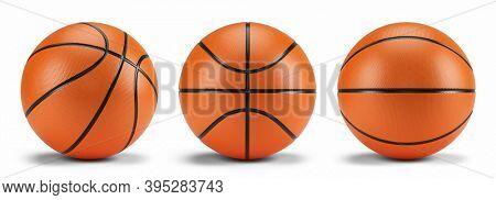 Basketball balls isolated on white - 3d rendering